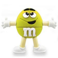 "m&m ""Yellow"" USB Sticks 32GB 210"